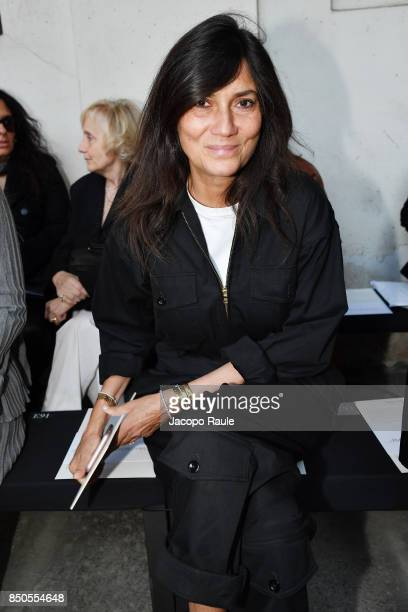 Emmanuelle Alt attends the Max Mara show during Milan Fashion Week Spring/Summer 2018 on September 21 2017 in Milan Italy