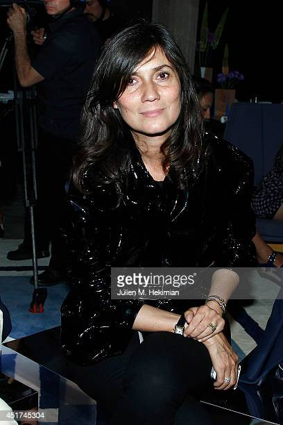 Emmanuelle Alt attends the Miu Miu Resort Collection 2015 at Palais d'Iena on July 5 2014 in Paris France