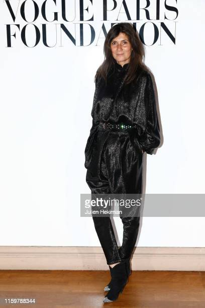 Emmanuelle Alt attends the Vogue diner as part of Paris Fashion Week Haute Couture Fall Winter 2020 at Le Trianon on July 02 2019 in Paris France