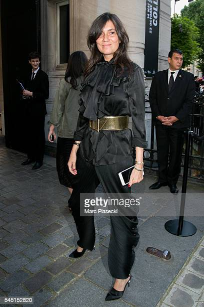 Emmanuelle Alt attends the Vogue Foundation Gala 2016 at Palais Galliera on July 5 2016 in Paris France