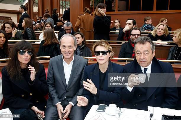 Emmanuelle Alt CEO of group Conde Nast France Xavier Romatet Journalist Virginie Mouzat and Michel Denisot attend the Chanel show as part of the...