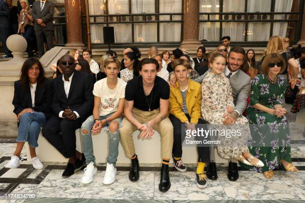 Emmanuelle Alt Edward Enninful Romeo Beckham Brooklyn Beckham Cruz Beckham Harper Beckham David Beckham and Anna Wintour attend the Victoria Beckham...