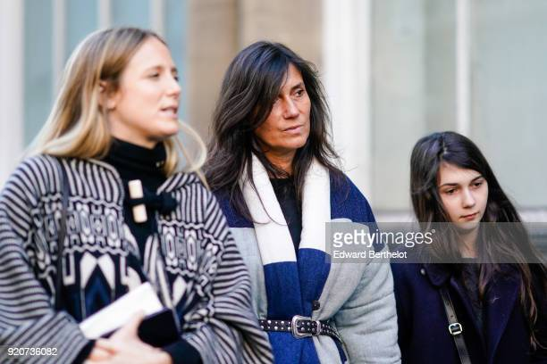 Emmanuelle Alt is seen during London Fashion Week February 2018 on February 17 2018 in London England