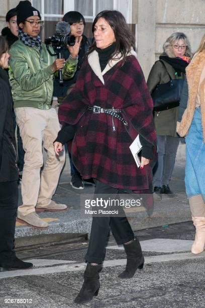Emmanuelle Alt is seen on March 3 2018 in Paris France