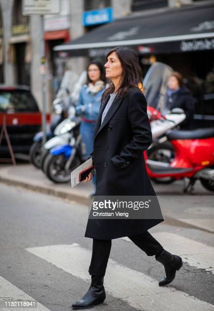 Emmanuelle Alt is seen outside Dolce Gabbana on Day 5 Milan Fashion Week Autumn/Winter 2019/20 on February 24 2019 in Milan Italy