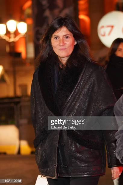 Emmanuelle Alt is seen outside the Chanel Metiers d'art 20192020 show at Le Grand Palais on December 04 2019 in Paris France