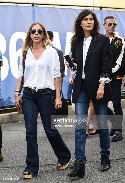 Emmanuelle Alt is seen outside the Coach show during New York Fashion Week Women's S/S 2018 on September 12 2017 in New York City