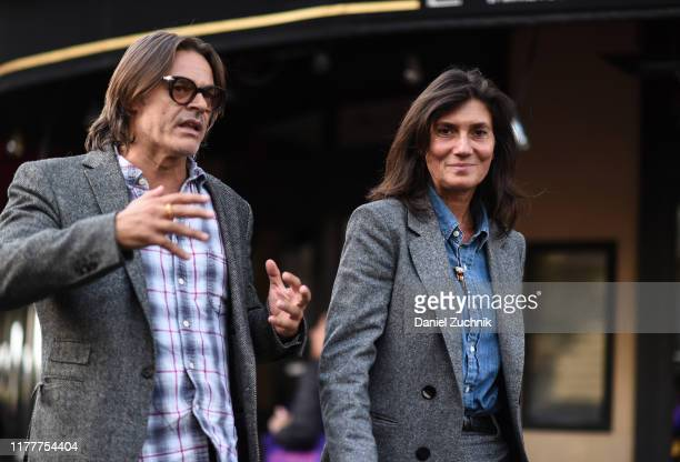 Emmanuelle Alt is seen outside the Comme Des Garcons show during Paris Fashion Week SS20 on September 28 2019 in Paris France