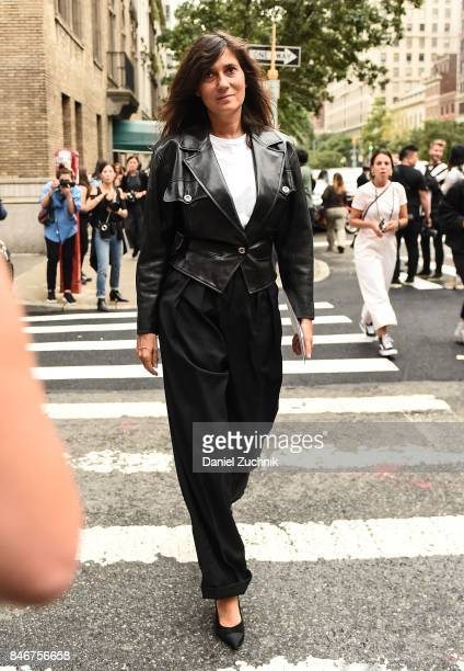 Emmanuelle Alt is seen outside the Marc Jacobs show during New York Fashion Week Women's S/S 2018 on September 13 2017 in New York City