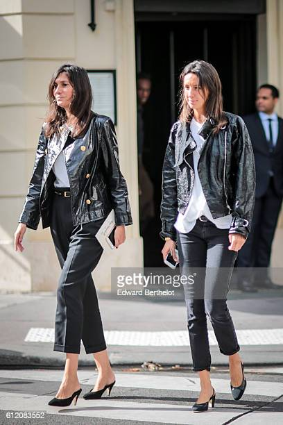 Emmanuelle Alt is seen outside the Valentino show during Paris Fashion Week Spring Summer 2017 on October 2 2016 in Paris France