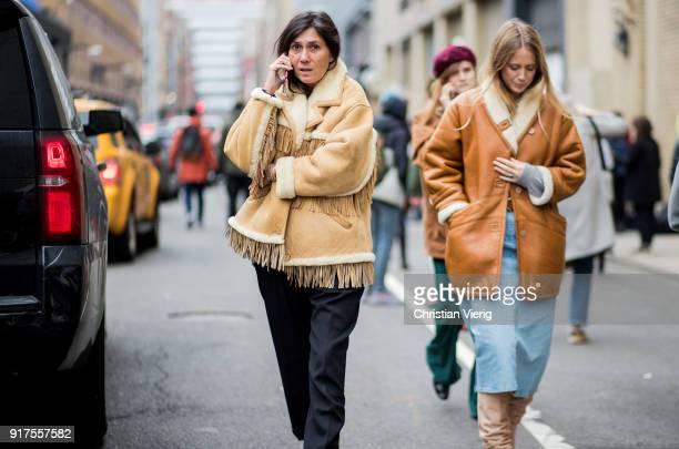 Emmanuelle Alt seen outside Ralph Lauren on February 12 2018 in New York City