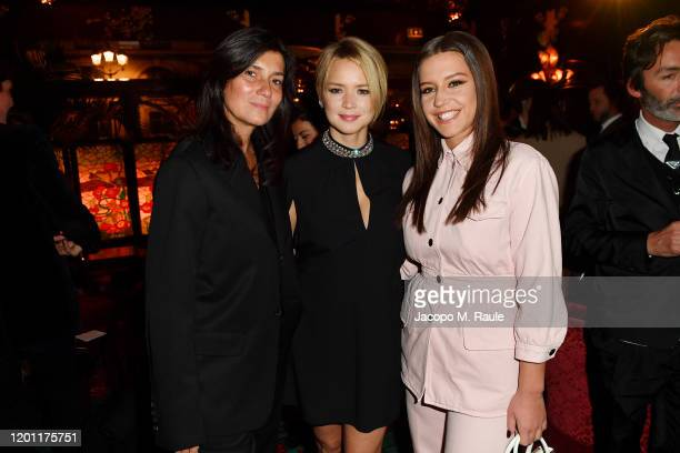 Emmanuelle Alt Virginie Efira Adele Exarchopulos attend the dinner cohosted by Prada and Vogue Paris on January 19 2020 in Paris France