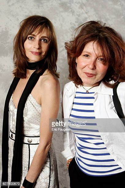 Emmanuelle Bach and director Christiane Leherissey attend the party celebrating the 100th episode of television show 'PJ'