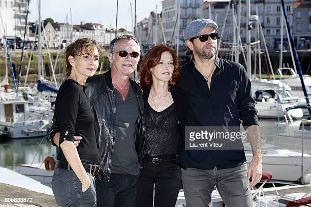 Emmanuelle Bach Bruno Wolkowitch Sophie Charlotte Husson and Gregory Fitoussi attend the 'Les Hommes de l'Ombre' Photocall during the 18th Festival...