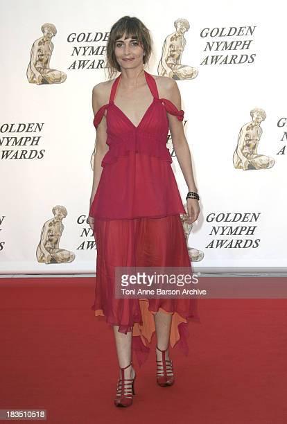 Emmanuelle Bach during 46th Monte Carlo Television Festival Closing Ceremony Arrivals at Grimaldi in Monte Carlo Monaco