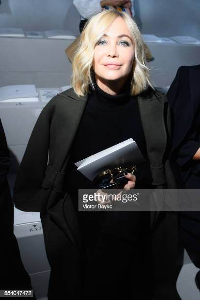 Emmanuelle Béart attends the Christian Dior show as part of the Paris Fashion Week Womenswear Spring/Summer 2018 on September 26 2017 in Paris France