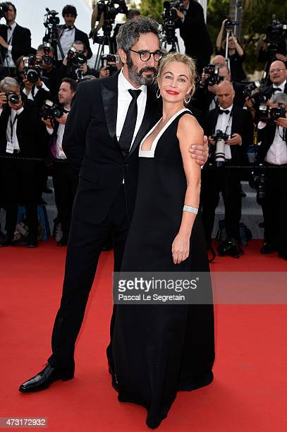 Emmanuelle Beart and guest attend the opening ceremony and premiere of La Tete Haute during the 68th annual Cannes Film Festival on May 13 2015 in...