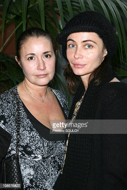 Emmanuelle Beart and her sister Eve Beart in Paris on December 21 2008