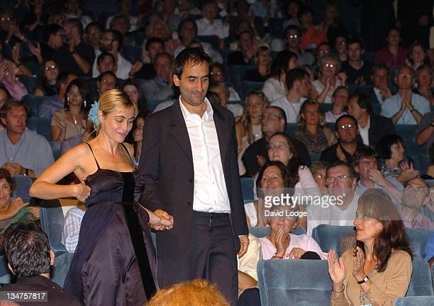 Emmanuelle Beart and Manuel Pradal during 32nd Deauville Film Festival 'A Crime' Premiere at Deauville Film Festival in Deauville France