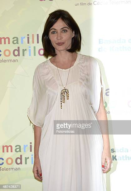Emmanuelle Beart attends a photocall for 'Los Ojos Amarillos de los Cocodrilos' at the Santo Mauro Hotel on April 30 2014 in Madrid Spain