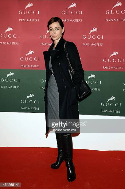 Emmanuelle Beart attends day 4 of the Gucci Paris Masters 2013 at Paris Nord Villepinte on December 8 2013 in Paris France