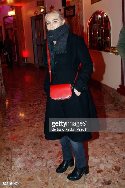 Emmanuelle Beart attends Depardieu Chante Barbara at Le Cirque D'Hiver on November 16 2017 in Paris France
