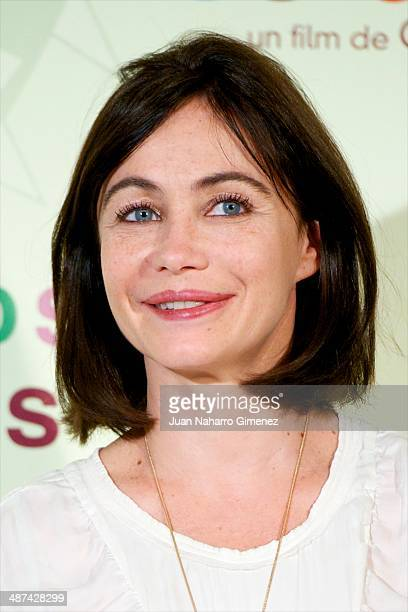 Emmanuelle Beart attends 'Los Ojos Amarillos de los Cocodrilos' photocall at Santo Mauro Hotel on April 30 2014 in Madrid Spain