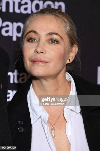 Emmanuelle Beart attends 'Pentagon Papers' Premiere at Cinema UGC Normandie on January 13 2018 in Paris France