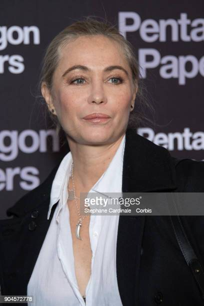 Emmanuelle Beart attends 'Pentagon Papers' Premiere at Cinema UGC Normandie on January 13 2018 in Paris France