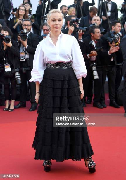Emmanuelle Beart attends the 70th Anniversary of the 70th annual Cannes Film Festival at Palais des Festivals on May 23, 2017 in Cannes, France.