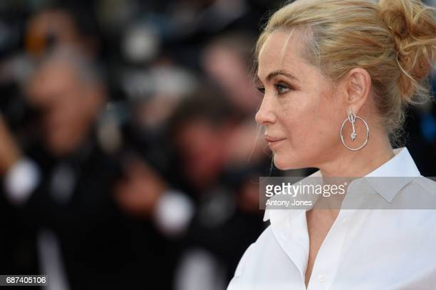 Emmanuelle Beart attends the 70th Anniversary of the 70th annual Cannes Film Festival at Palais des Festivals on May 23 2017 in Cannes France