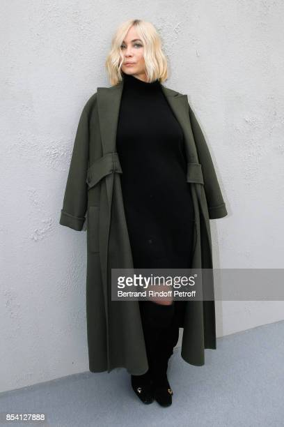 Emmanuelle Beart attends the Christian Dior show as part of the Paris Fashion Week Womenswear Spring/Summer 2018 on September 26 2017 in Paris France