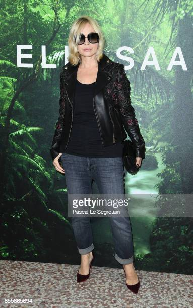 Emmanuelle Beart attends the Elie Saab show as part of the Paris Fashion Week Womenswear Spring/Summer 2018 on September 30, 2017 in Paris, France.
