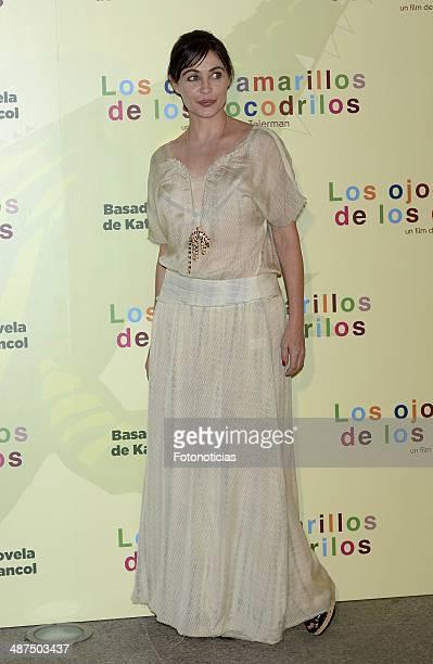 Emmanuelle Beart attends the 'Los Ojos Amarillos de los Cocodrilos' premiere the Academia del Cine on April 30 2014 in Madrid Spain