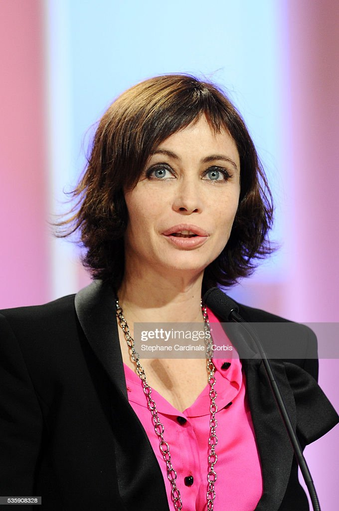 Emmanuelle Beart attends the 'Palme d'Or Award Ceremony' of the 63rd Cannes International Film Festival