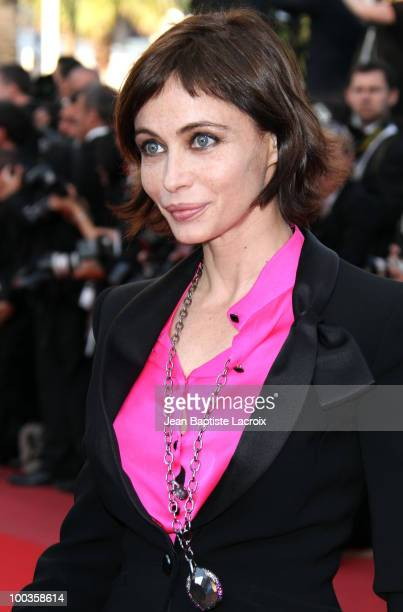 Emmanuelle Beart attends the Palme d'Or Closing Ceremony held at the Palais des Festivals during the 63rd Annual International Cannes Film Festival...