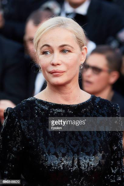 Emmanuelle Beart attends the The Killing Of A Sacred Deer screening during the 70th annual Cannes Film Festival at Palais des Festivals on May 22...