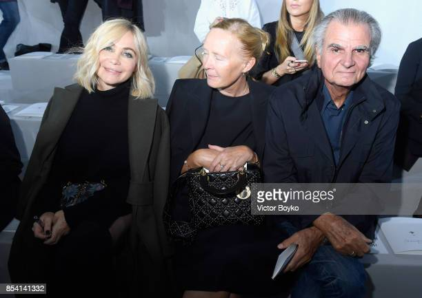 Emmanuelle Beart, Bettina Rheims and Patrick Demarchelier attend the Christian Dior show as part of the Paris Fashion Week Womenswear Spring/Summer...