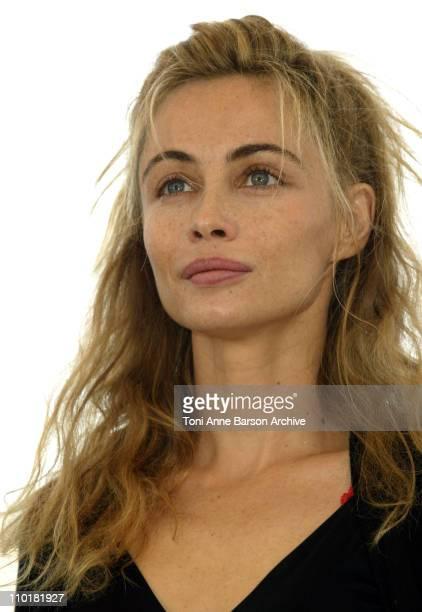 "Emmanuelle Beart during 2003 Cannes Film Festival - ""Les Egares"" Photo Call at Palais Des Festivals in Cannes, France."