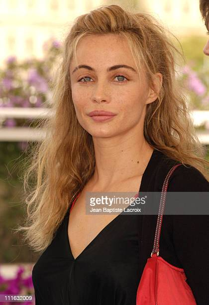 Emmanuelle Beart during 2003 Cannes Film Festival 'Les Egares' Photo Call at Palais Des Festivals in Cannes France