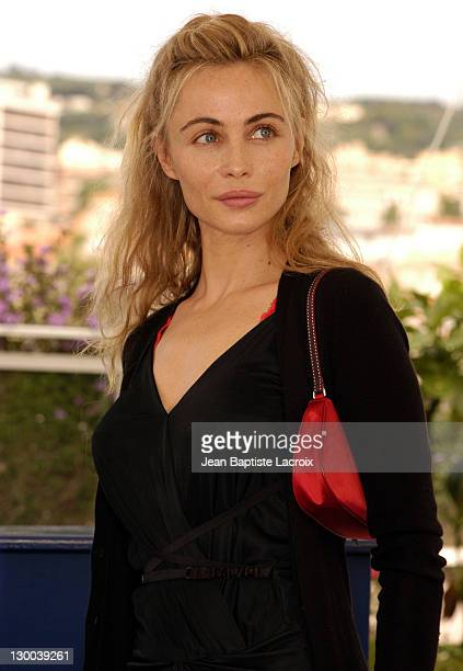 Emmanuelle Beart during 2003 Cannes Film Festival Les Egares Photo Call at Palais Des Festivals in Cannes France
