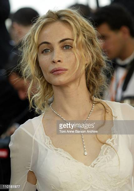 Emmanuelle Beart during 2003 Cannes Film Festival Les Egares Premiere at Palais Des Festival in Cannes France