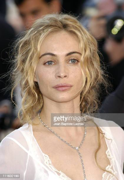 Emmanuelle Beart during 2003 Cannes Film Festival 'Les Egares' Premiere at Palais Des Festival in Cannes France