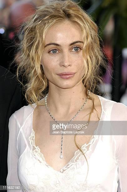 """Emmanuelle Beart during 2003 Cannes Film Festival - """"Les Egares"""" Premiere at Palais Des Festival in Cannes, France."""