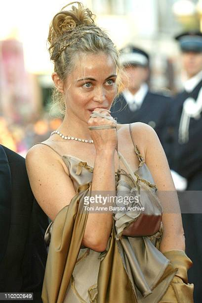 Emmanuelle Beart during 2004 Cannes Film Festival 'Motorcycle Diaries' and 'Bad Santa' Premieres at Palais Du Festival in Cannes France