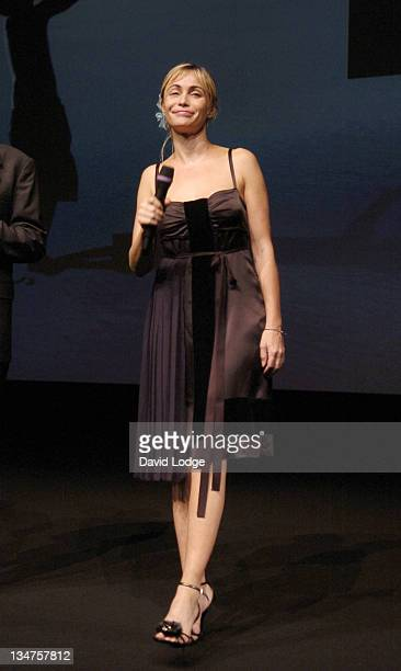 Emmanuelle Beart during 32nd Deauville Film Festival 'A Crime' Premiere at Deauville Film Festival in Deauville France