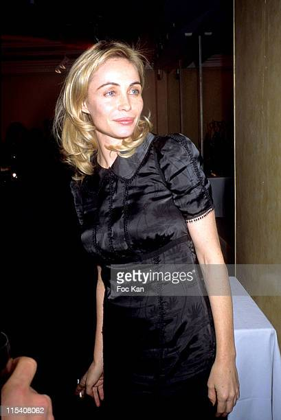 Emmanuelle Beart during Paris Fashion Week Sidaction Auction Dinner Against AIDS at Pavillon D'armenonville in Paris France