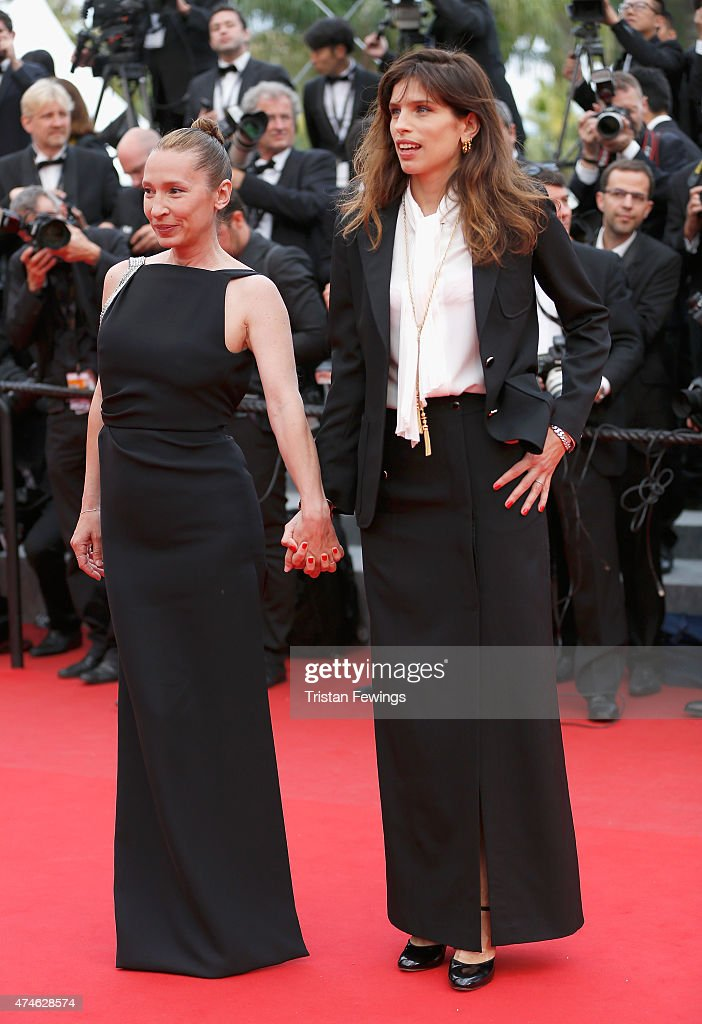 Emmanuelle Bercot and Maiwenn attend the closing ceremony and Premiere of 'La Glace Et Le Ciel' ('Ice And The Sky') during the 68th annual Cannes Film Festival on May 24, 2015 in Cannes, France.