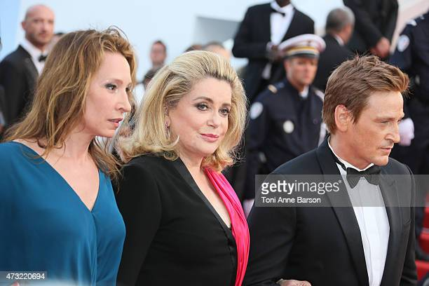 Emmanuelle Bercot Catherine Deneuve and Benoit Magimel attend the opening ceremony and La Tete Haute premiere during the 68th annual Cannes Film...