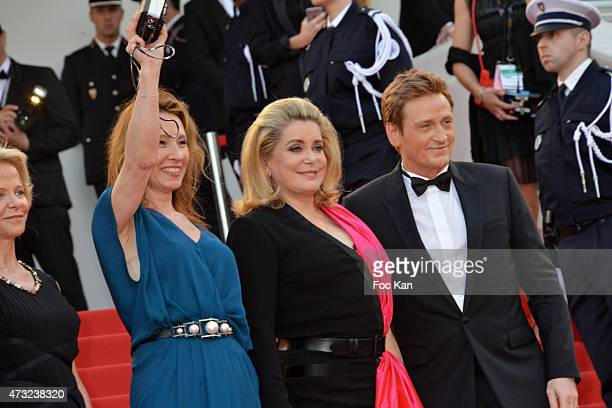 Emmanuelle Bercot Catherine Deneuve and Benoit Magimel attend the opening ceremony and premiere of 'La Tete Haute during the 68th annual Cannes Film...